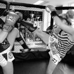Sparring with Julie Ktichen in Touch Gloves gym